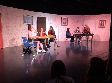 Acting 2 students take the stage