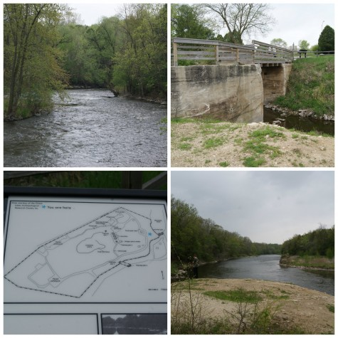 Lime Kiln Park is known for it's trout fishing, and limestone despots can still be found in the park.