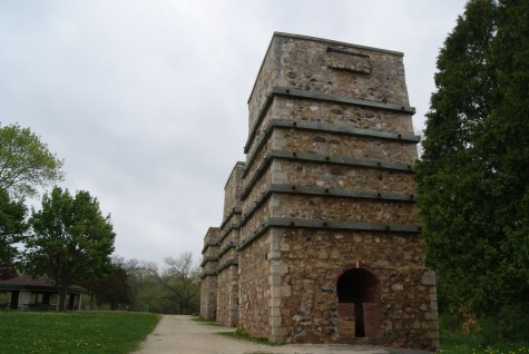 Three of the five original kilns still stand today. The Kilns were used heat the limestone so that it would separate into it's main components, one of them being carbon.