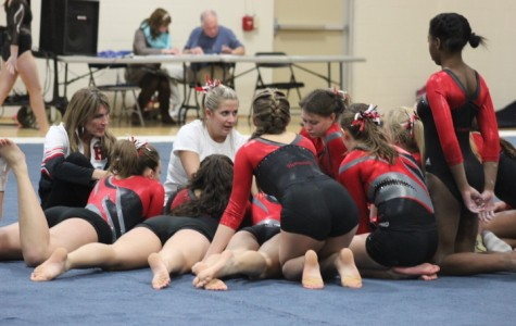 Girls gymnastics prepares for conference meet tonight