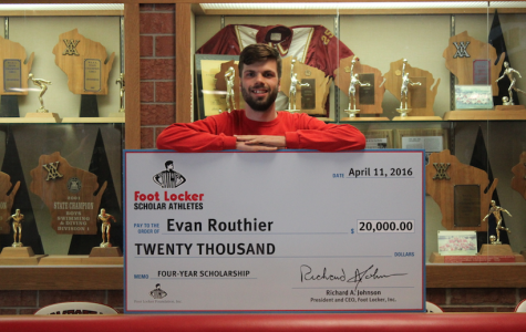 Routhier recognized as Foot Locker Scholar Athlete