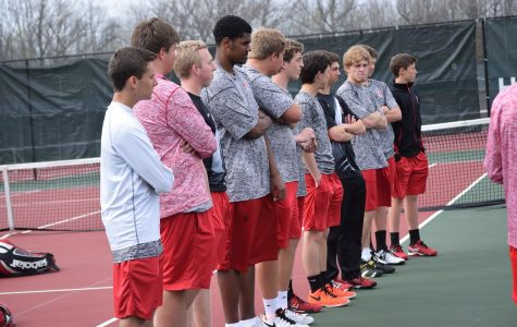Boys tennis takes down tough conference rival