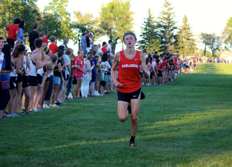Drew+Bosley%2C+sophomore%2C+took+second+place+at+the+meet.+Bosley+ran+at+the+state+meet+last+year+and+greatly+improved+his+time.+%22The+team+worked+hard+and+trained+for+nine+months+just+to+run+this+race+and+all+the+hard+work+paid+off.+I+am+so+proud+of+my+teammates%2C%22+Bosley+said.+