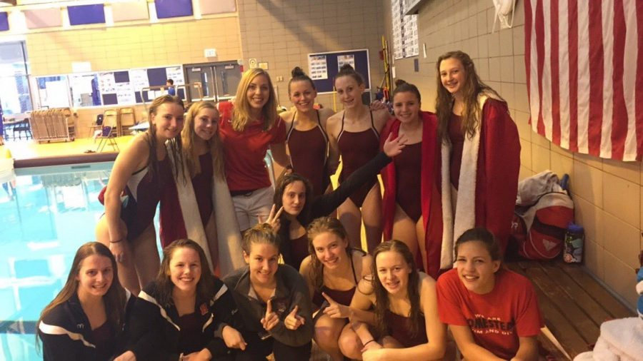 The+girls+varsity+swim+and+dive+team+competed+at+conference+on+Saturday%2C+Oct.+29.