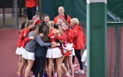 Girls varsity tennis team wins state championship