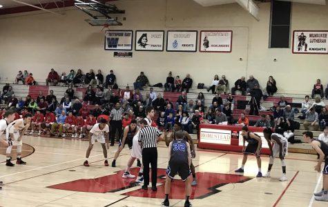 Boys varsity basketball defeats Whitefish Bay