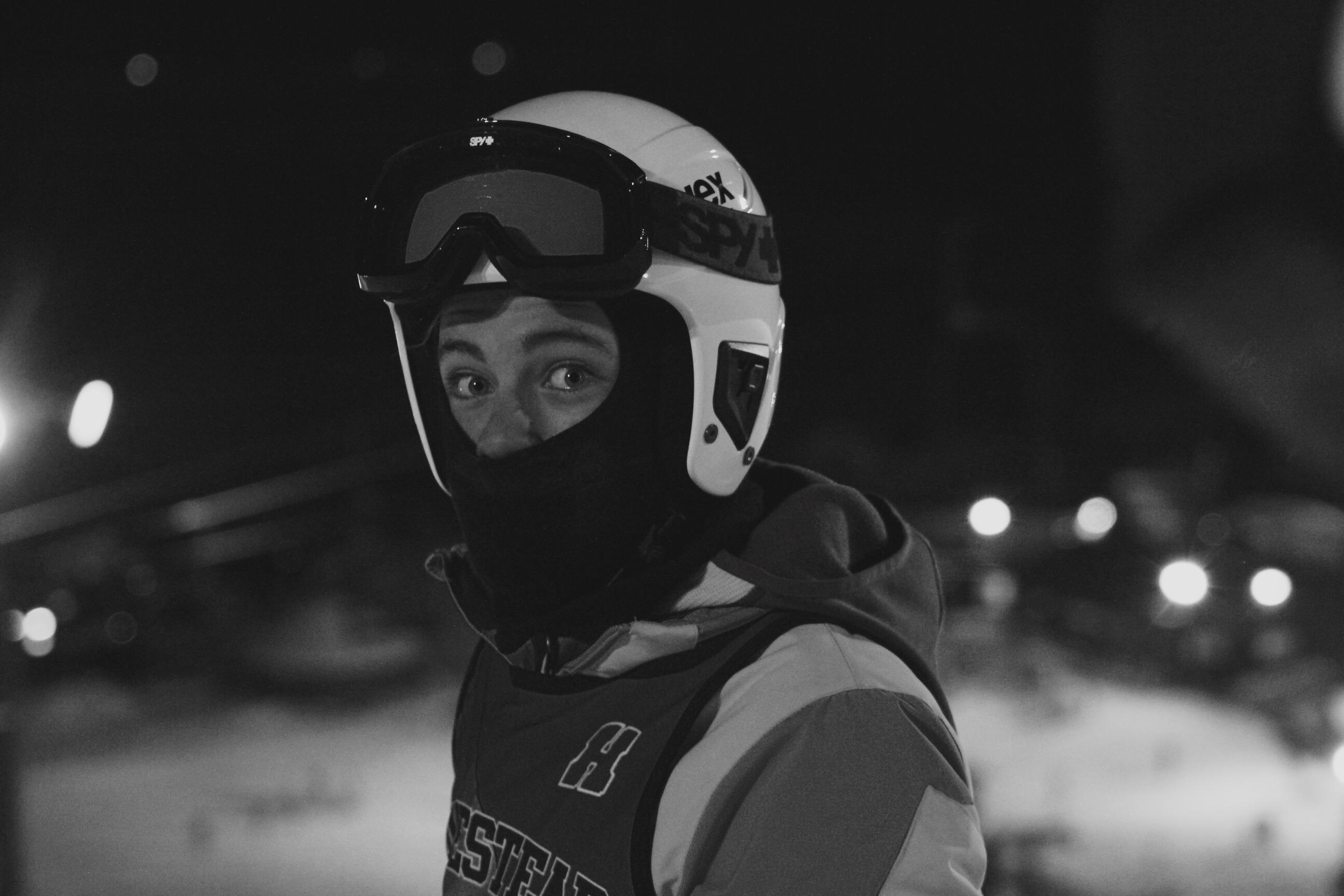 Ethan Fuller, freshman, gets ready to ski with the Homestead ski team.