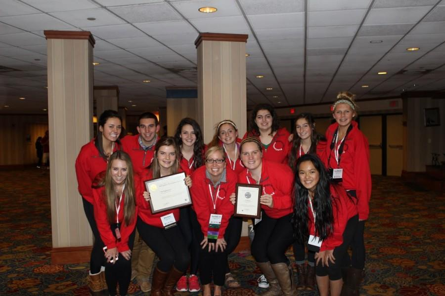 The Highlander Publications team is all smiles after winning the Newspaper Pacemaker Award for The Highlander at the National High School Journalism Convention in Washington, DC. This was the third national convention that Highlander Publications has attended.