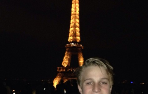 Sam Judd, freshman, poses in front of the Eiffel Tower during his trip to Europe. He enjoyed his trip and hopes to return someday soon.