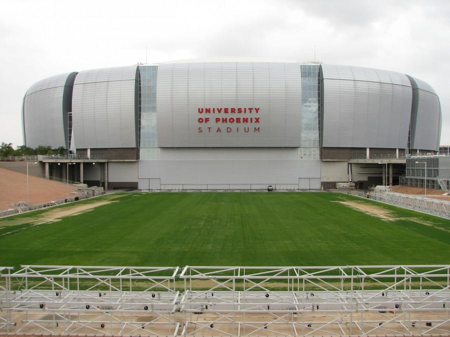 University of Phoenix Stadium in Glendale, Arizona will be home to Super Bowl XLIX on Feb. 1, 2015. The game will be played between the Seattle Seahawks and New England Patriots.