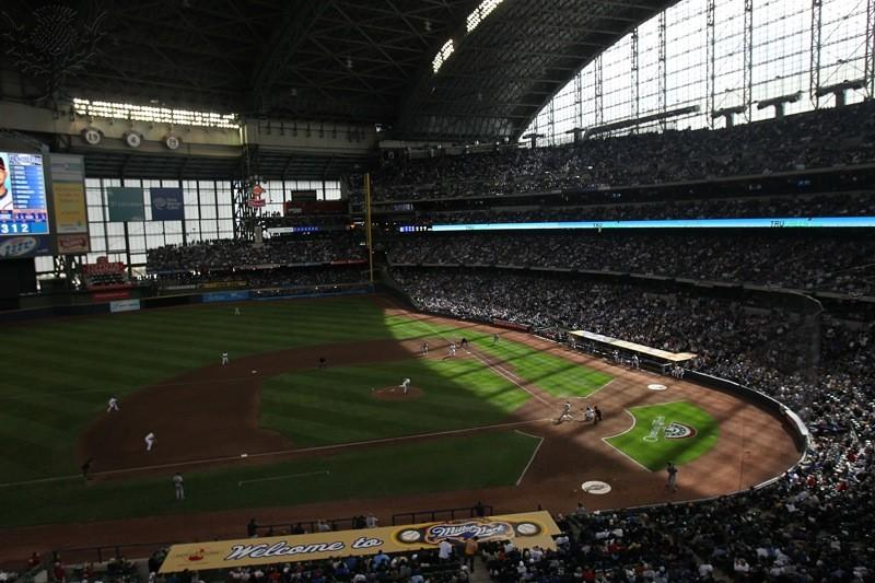 Miller Park, the home of the Brewers, shines on Opening Day 2011. Photo provided by Google Creative Commons