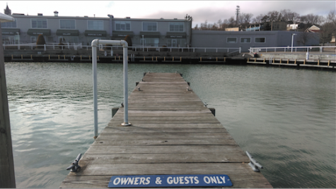 A pier at the Port Washington Marina