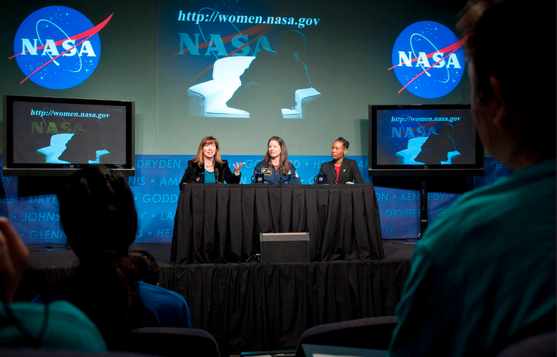 During March 2011, female NASA scientists celebrate Women's History Month by praising fellow women in the STEM (Statistics, technology, engineering, mathematics) fields. Image from Flickr