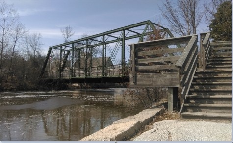As you pass though Cedarburg, you will see the Interurban Bridge that crosses over the Milwaukee river.