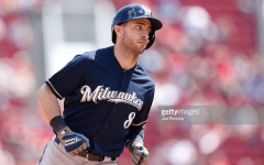 Ryan Braun, Brewers right fielder, trots the bases in celebration after hitting a grand slam during Thursday's 8-3 win in Cincinnati. Braun also hit a solo shot in the game to have 5 RBI's total and hopefully break out of his season-long slump. Photo by Getty Images