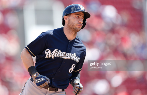 Ryan Braun, Brewers right fielder, trots the bases in celebration after hitting a grand slam during Thursday