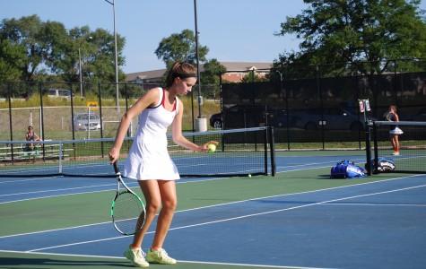 Girls varsity tennis crushes high-ranked rivals