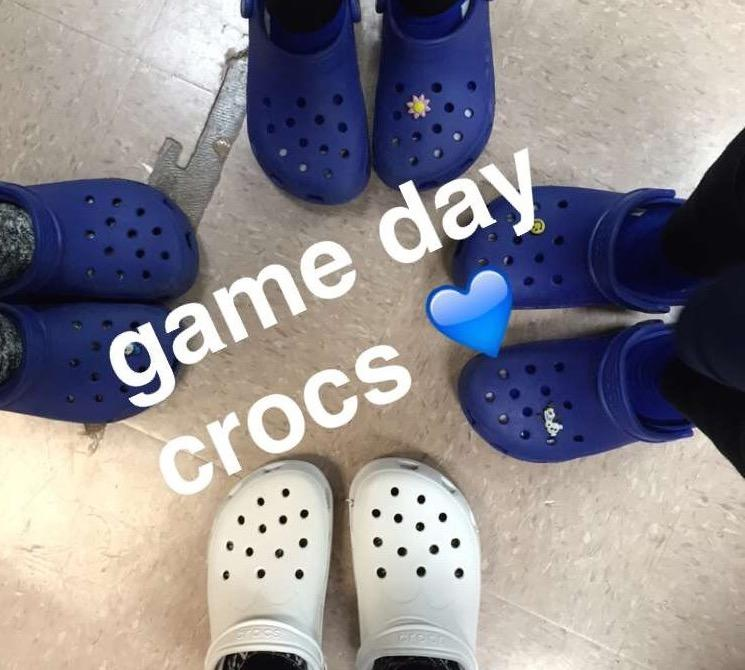 ae77083a55fcdc My teammates and I color coordinated our Crocs to match our team colors for  game days