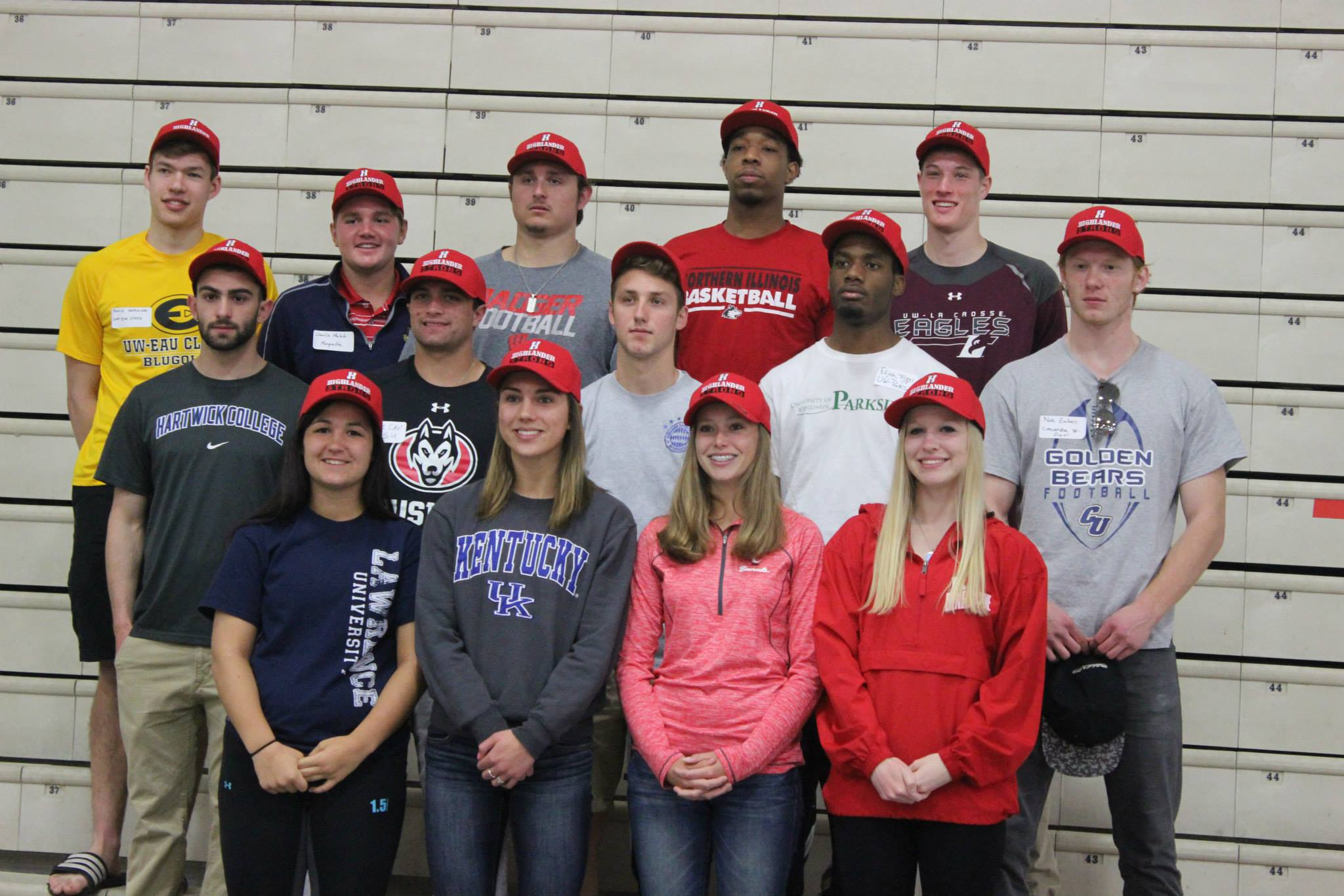The athletes from the Class of '15 pictured at last year's Pancake Breakfast.