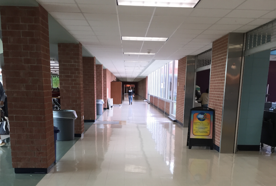 The fight involving five female students occurred near the cafeteria. Administration has dealt with and resolved the issue.