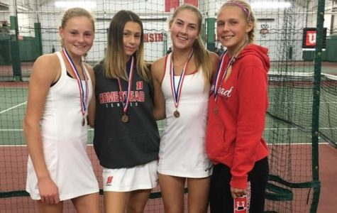 Four varsity tennis players medal at individual state tournament