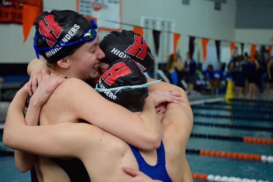 The+400+free+relay+celebrates+after+beating+the+Homestead+record.