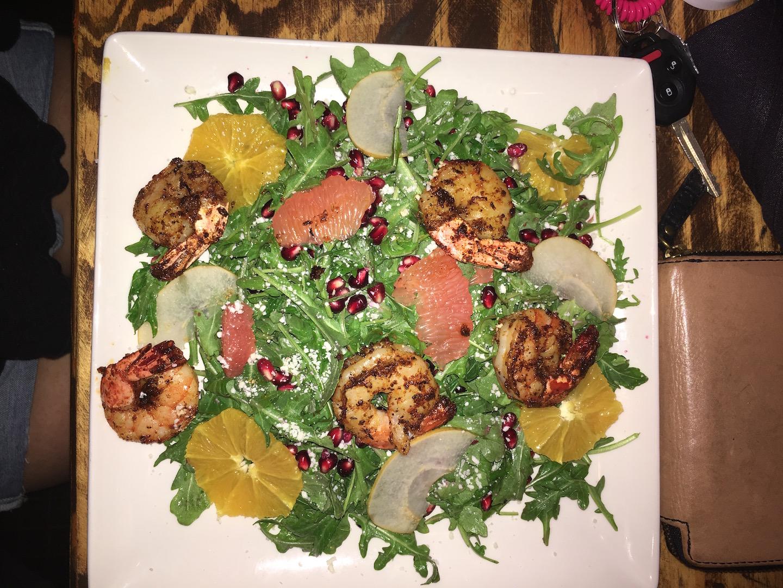 Hollander's Blackened Shrimp and Apple salad