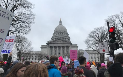 Students participate in nationwide women's marches