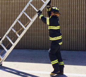 Ben Beck, senior, is fulfilling his childhood dream of being a firefighter.