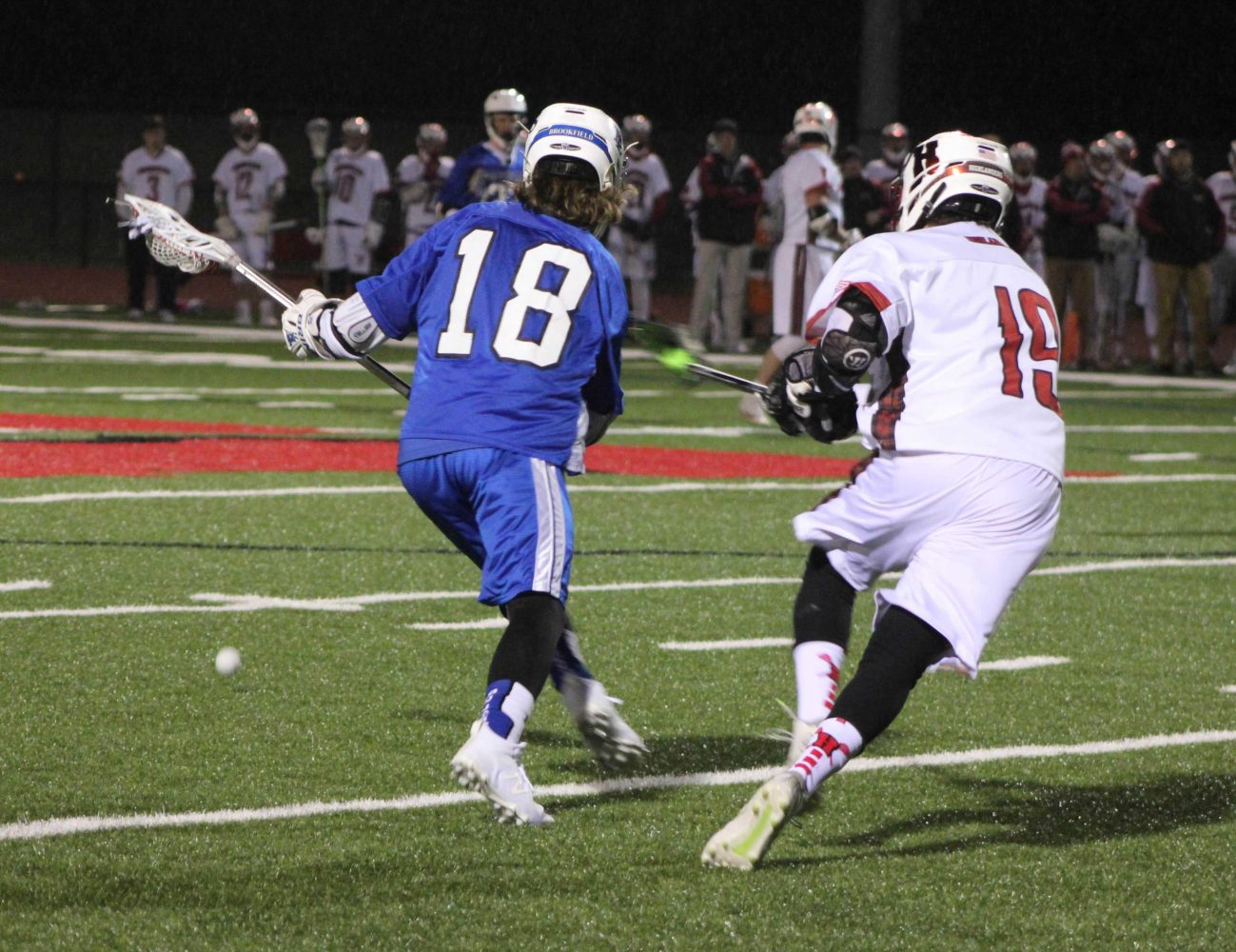 Michael Gebhardt, junior, tries to steal the ball from his opponent at a previous game against Brookfield.