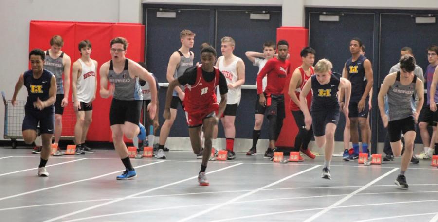 Brenton Levy, sophomore, sprints.