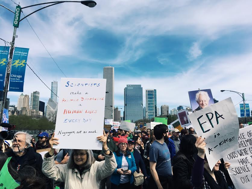 The March for Science in Chicago walked from Grant Park to the Field Museum to celebrate the importance of science in society.