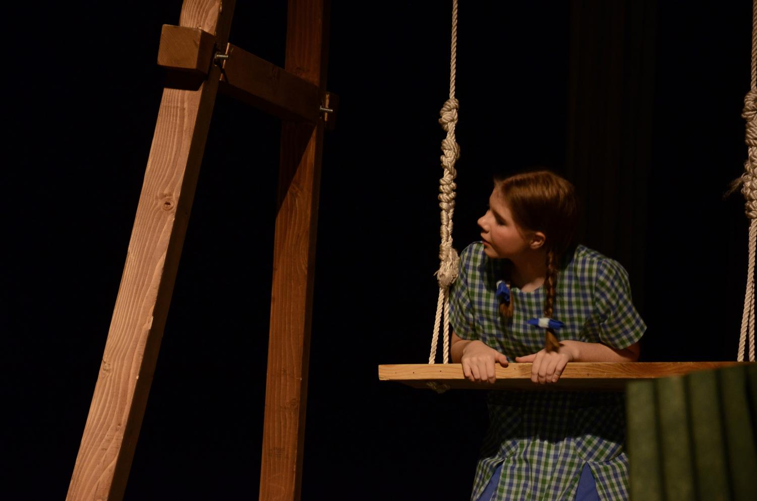 Megan Siatczynski, junior, performs as Frances in the One Act play