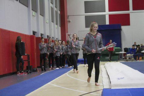 Bittersweet senior night for gymnasts