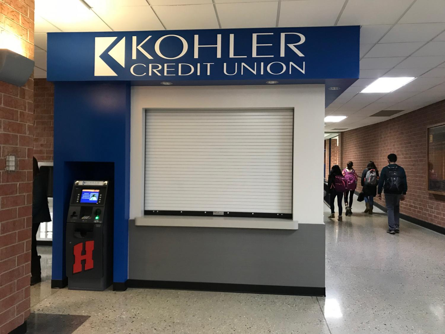 The new Kohler Credit Union branch is located within the field house.