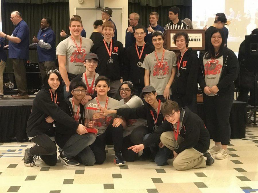 Homestead's Kraken Pinion robotics team wins first place.
