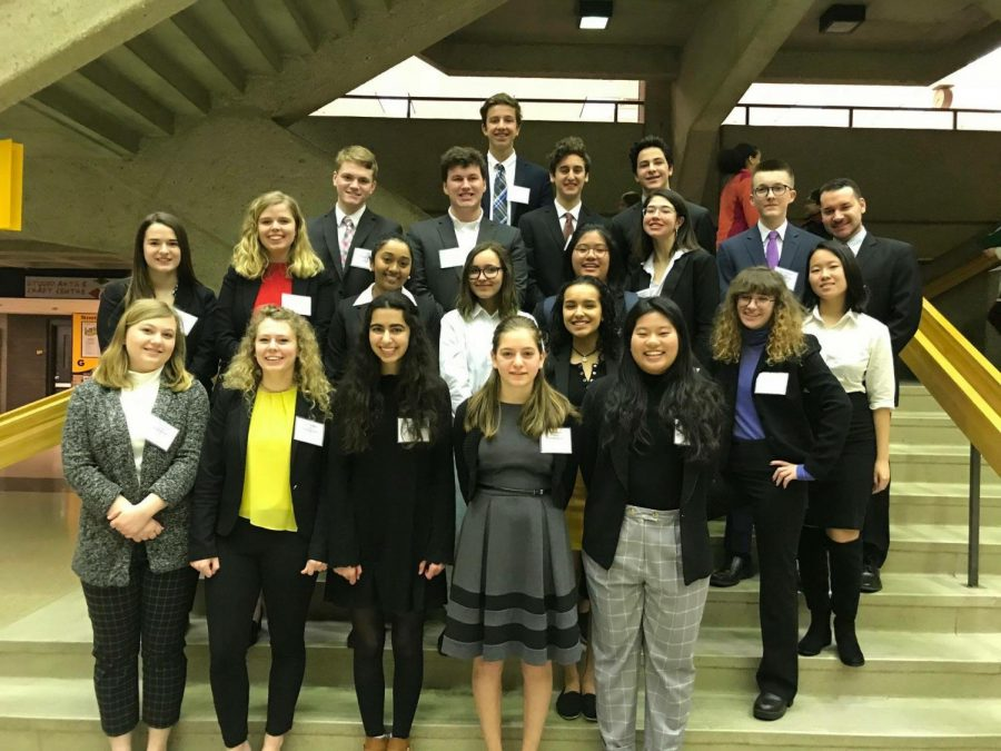 Homestead's MUN smiles for a photo at the conference at UWM.