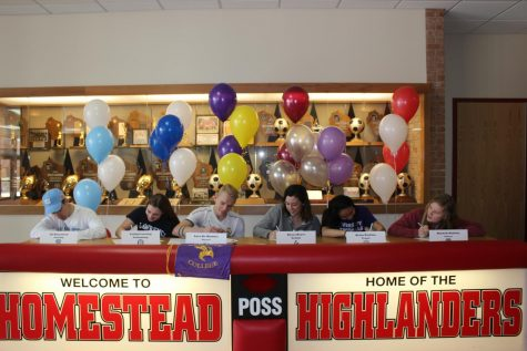 Athletes sign their National Letters of Intent