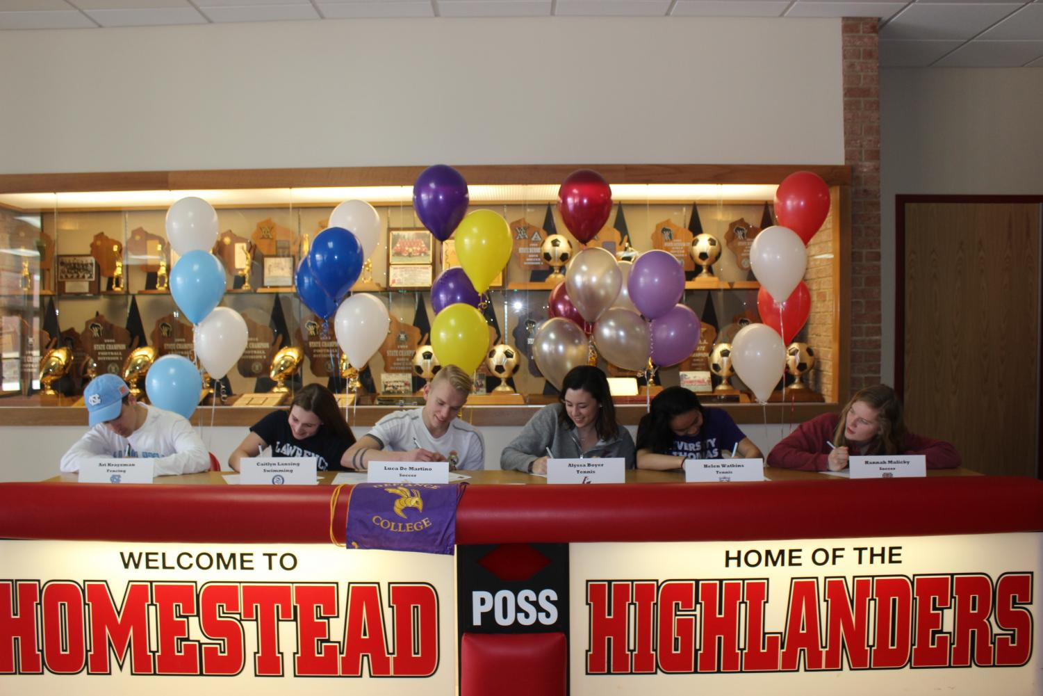Homestead athletes begin signing.