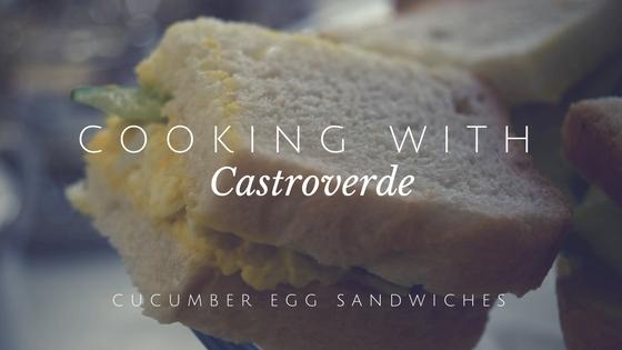 Alex Castroverde, junior, teaches how to make perfect cucumber egg sandwiches.
