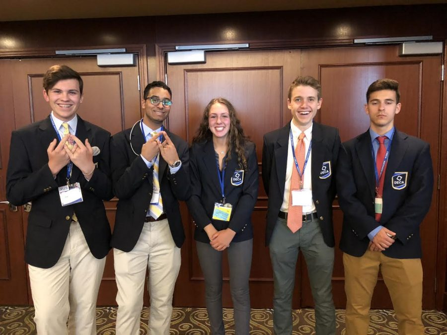 The DECA team travelled to Atlanta, Georgia to compete in the International Conference.