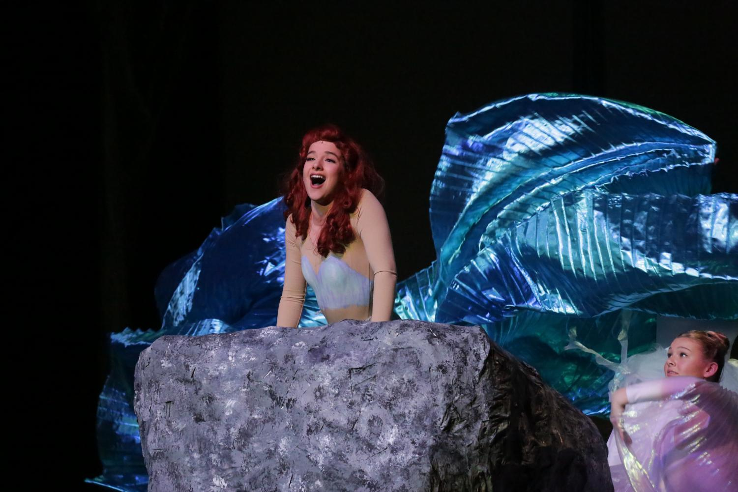 Bella Gabor, senior, plays the lead role of Ariel in The Little Mermaid.