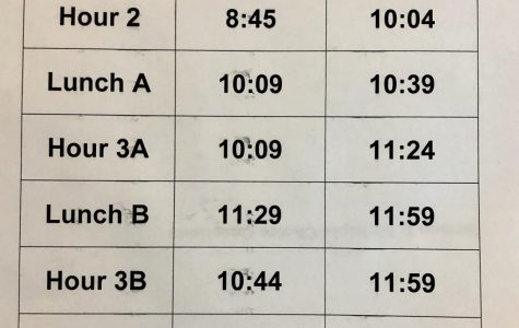 High school schedule adjusted due to closings