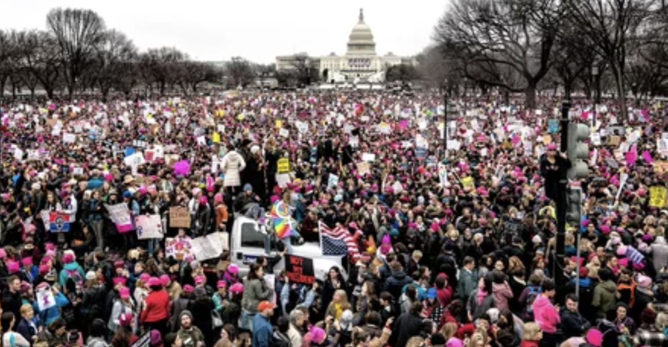 Photo via People Magazine Online of the 2017 Women's March