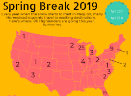 Students look forward to spring break