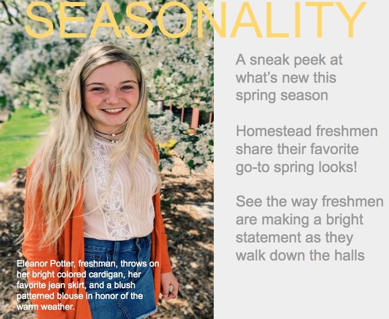 Freshmen share their favorite looks for the spring season