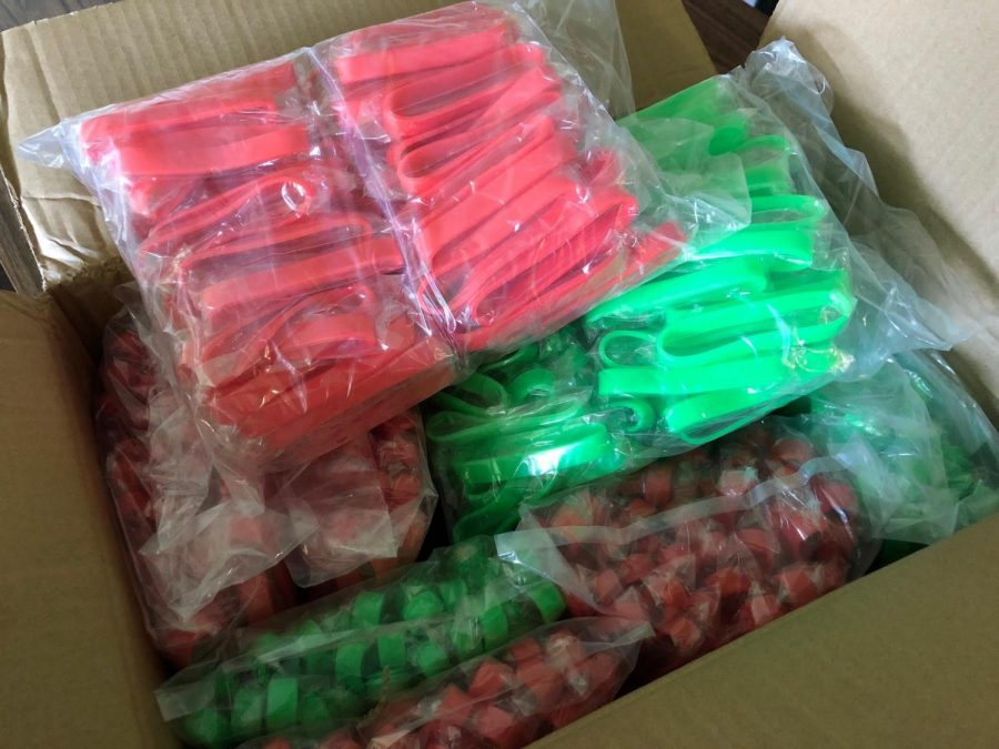 The bracelets are in...let the game begin.