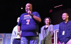 Reggie Dabbs visits for Red Ribbon Week message