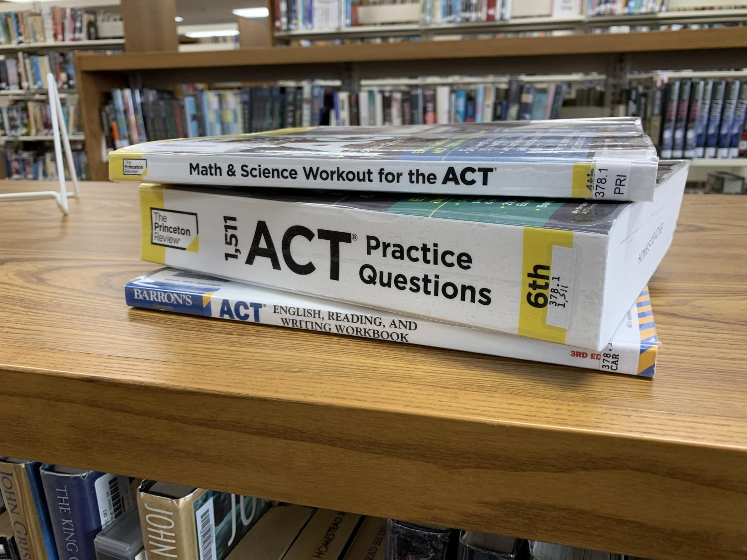 Homestead's I-Wing 1 supplies students with many ACT practice test booklets to help them study.