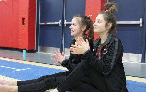 Gymnastics team holds parent night